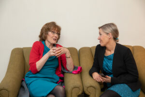 Irene Hughes and Cathy Baxter